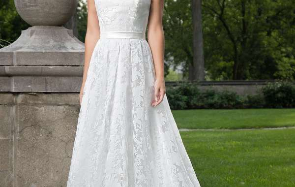 Impress the crowd with your style of floral burnout Bridal dresses!