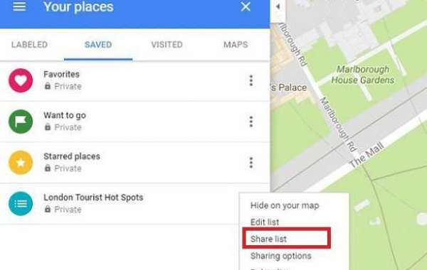 How to create and manage the list of places on Google Maps