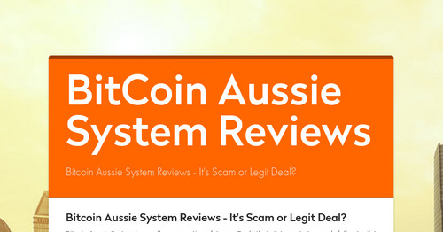 BitCoin Aussie System Reviews