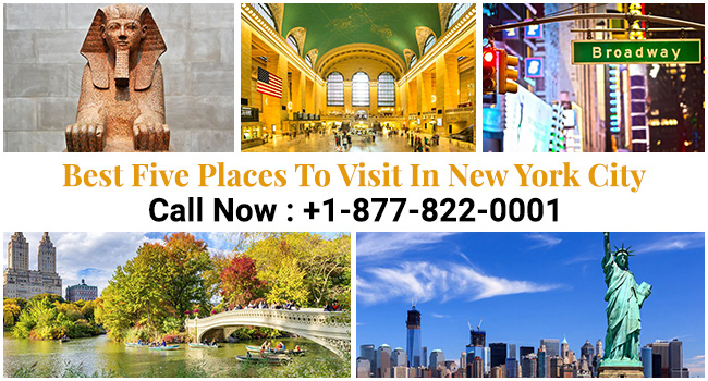 Best Five Places to visit in New York City