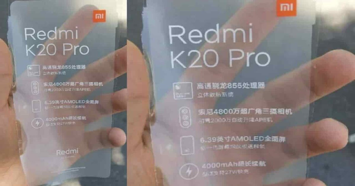 Redmi K20 Pro can be the name of the Redmi flagship phone with the Snapdragon 885 processor