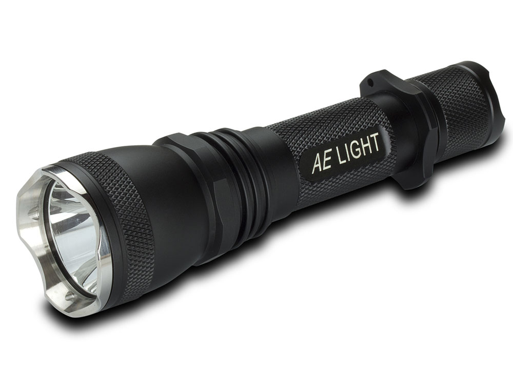 600 Lumen Single Switch Tactical Flashlight | AE LIGHT