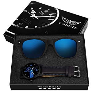 Buy Analogue Men's Blue Dial Watch and Wayfarer Sunglasses Combo Set Online at Low Prices in India - Amazon.in