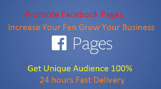 Promote facebook  pages to get the unique audience by Zaigham567