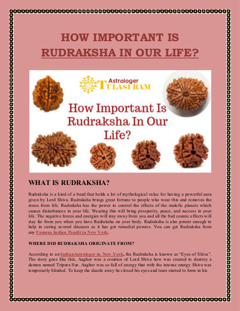 HOW IMPORTANT IS RUDRAKSHA IN OUR LIFE | edocr