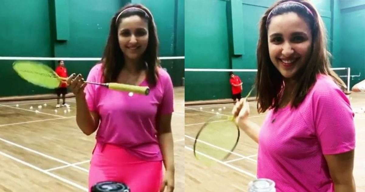 Parineeti Chopra takes the bottle cap challenge in her own style on sets of Saina Nehwal biopic. Look Video