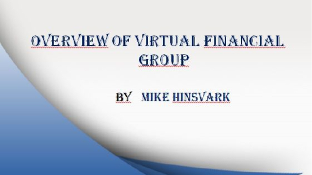 Animoto - Overview of Virtual Financial Group by Mike Hinsvark