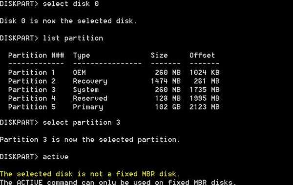How to Fix the Selected Disk is Not a Fixed MBR Disk