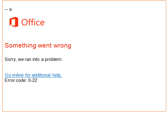 Easy Steps to Fix Microsoft Office Error Code 0-22 - office.com/setup