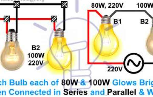 Which bulb is brighter when the series is parallel and connected