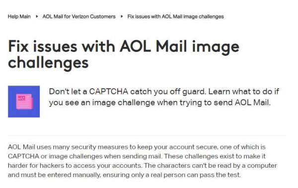 How to Resolve image challenges for AOL Mail?