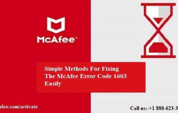 Simple Methods For Fixing The McAfee Error Code 1603 Easily