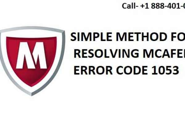 Simple Methods for Resolving the McAfee Error Code 1053