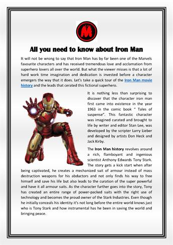 All You Need to Know about Iron Man  |authorSTREAM
