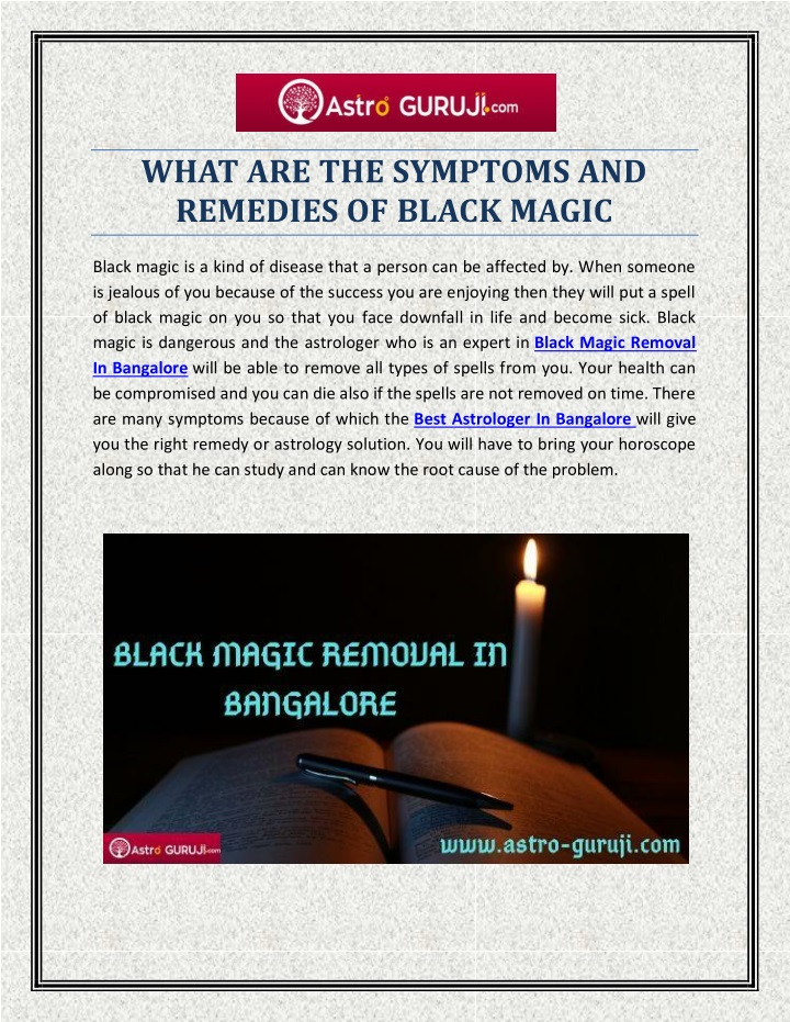 PPT - WHAT ARE THE SYMPTOMS AND REMEDIES OF BLACK MAGIC PowerPoint Presentation - ID:9655822