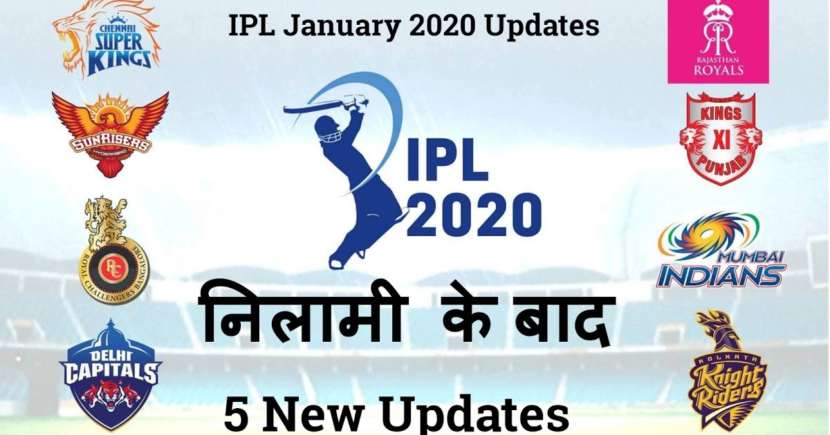 Ipl 2020 5 Biggest Updates (January 2020)