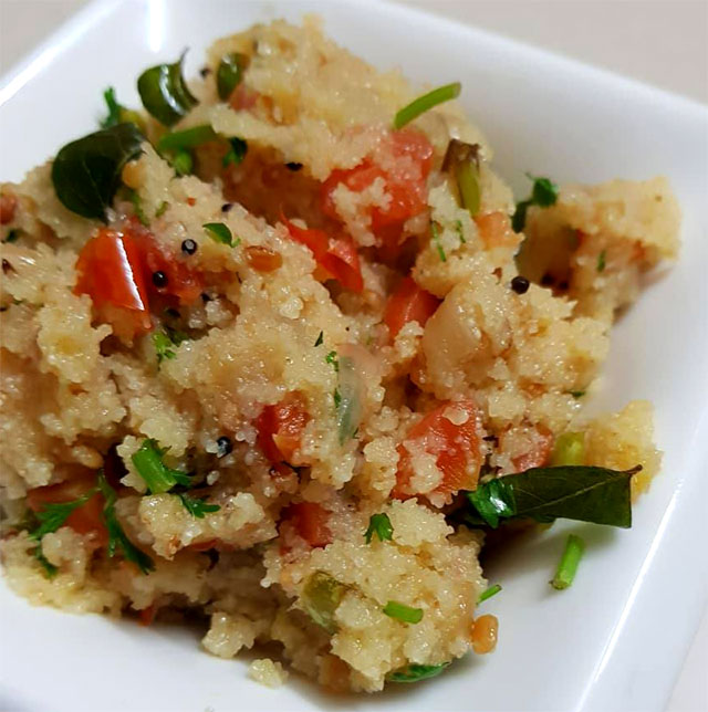 Vegetable Upma - Recipe Blog