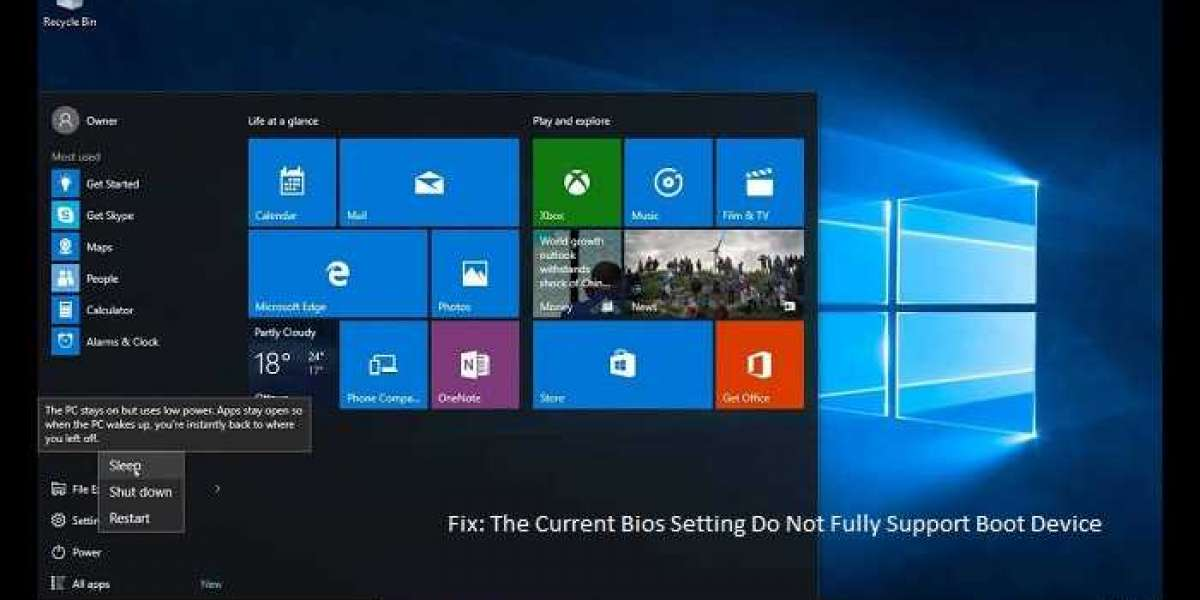 Fix: The Current Bios Setting Do Not Fully Support Boot Device