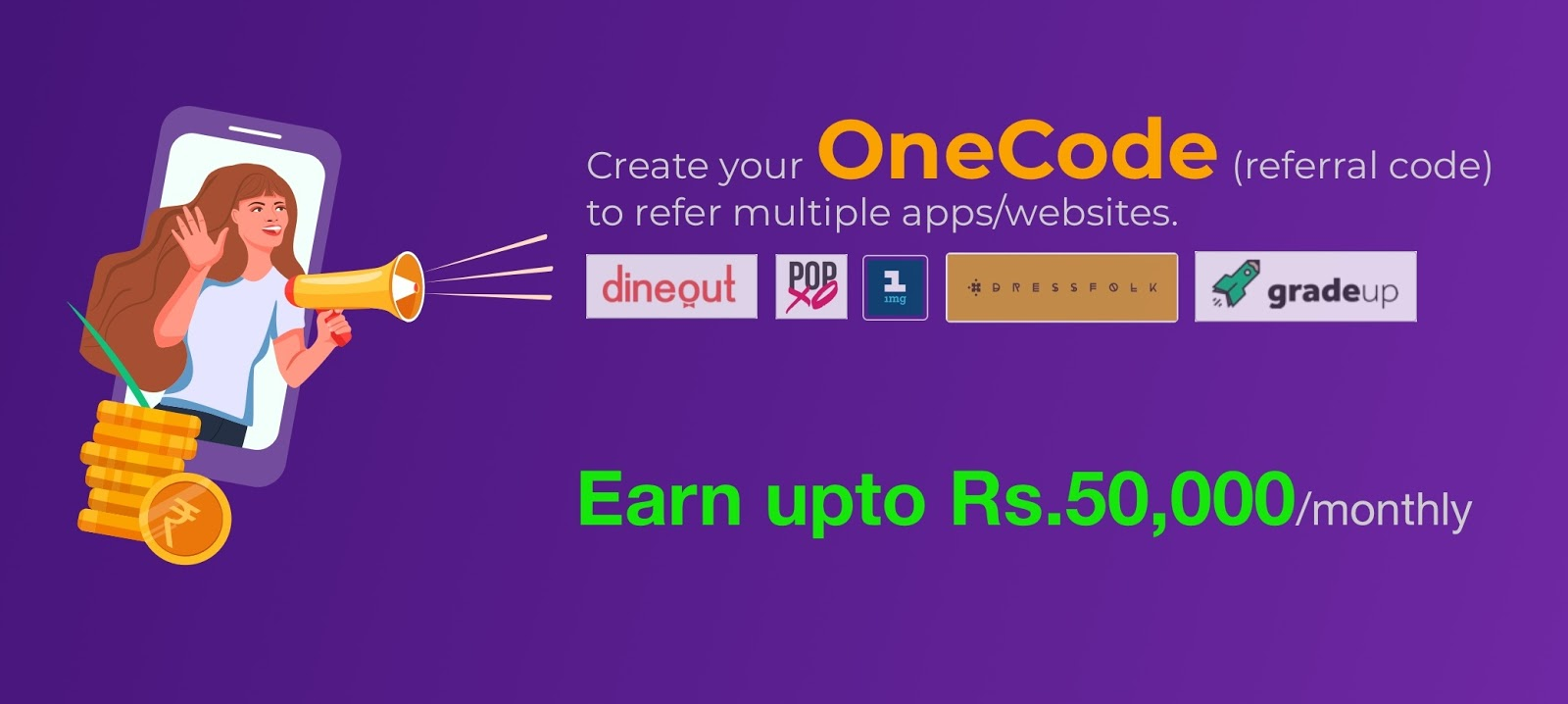 OneCode Referral Code: Save Up to Rs. 50,000 Monthly While Shopping Online Using Your OneCode - Freebies Loot