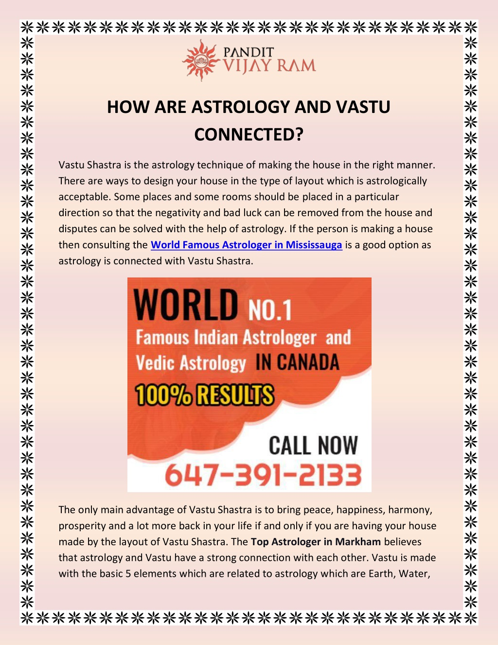 PPT - How Are Astrology and Vastu Connected? PowerPoint Presentation, free download - ID:9793725
