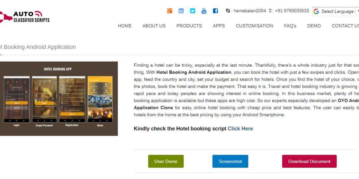 Finest PHP Auto Classified Script - Android Hotel Booking App