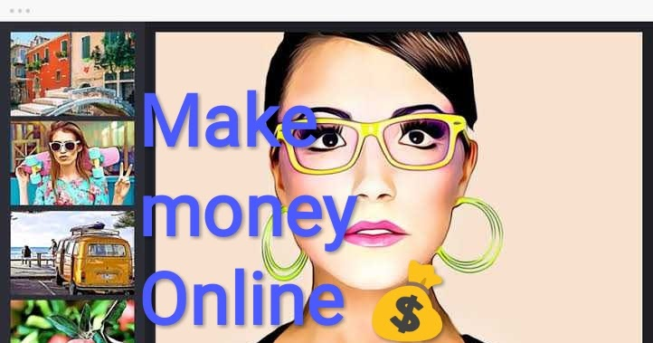 Create cartoon photos and make money online from home