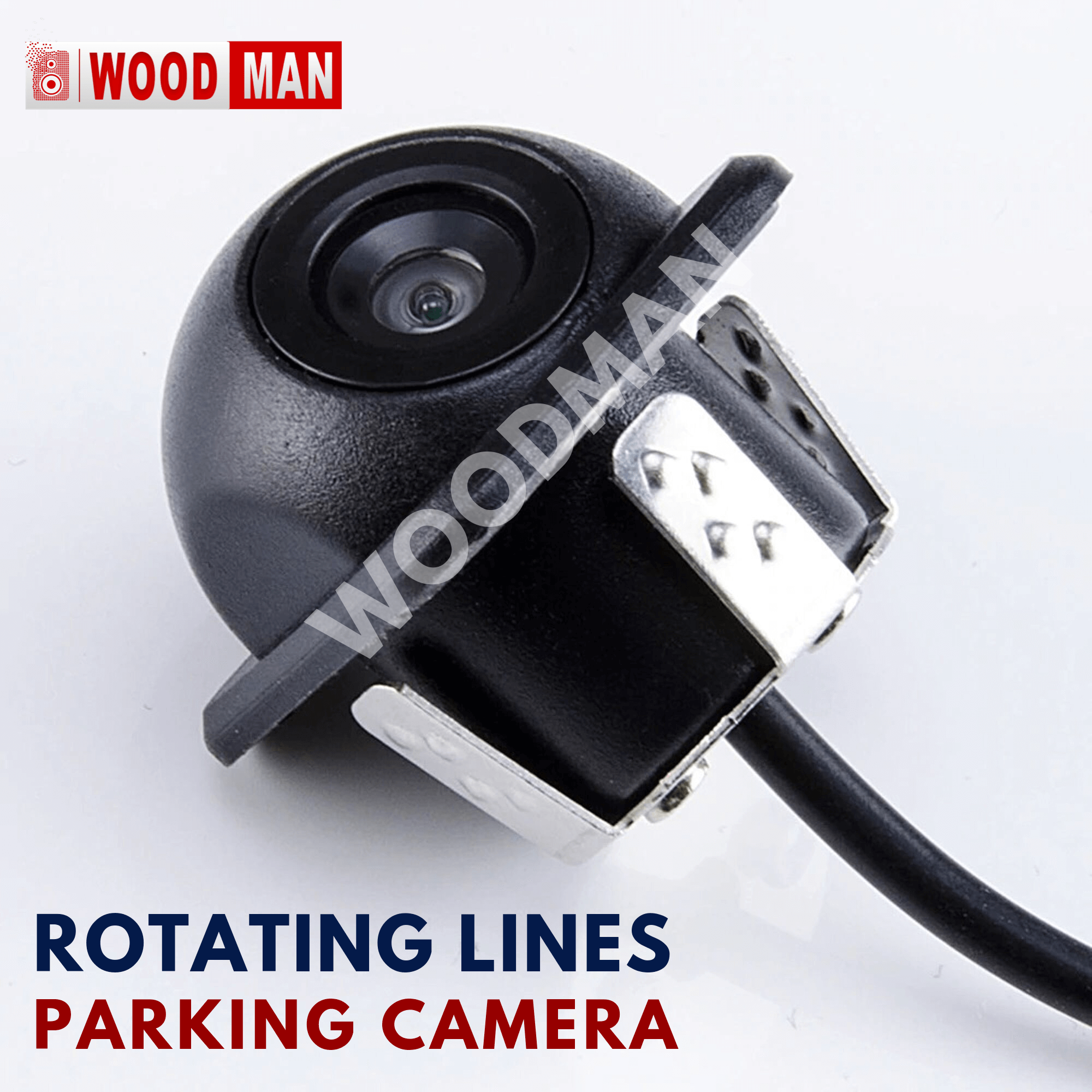 Woodman 8 LED Car Rear View Camera with Night Vision - Easy to install