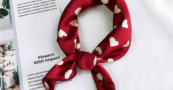 Women Square Scarf Hair Tie Band For Business Party - Secret Shopping Stuff