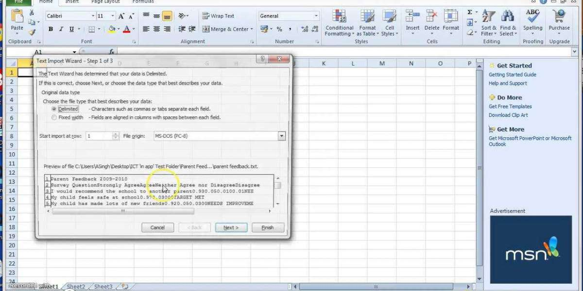 How to Convert a Text File into Excel File