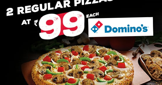 Buy 2Pizza Rs.99 each