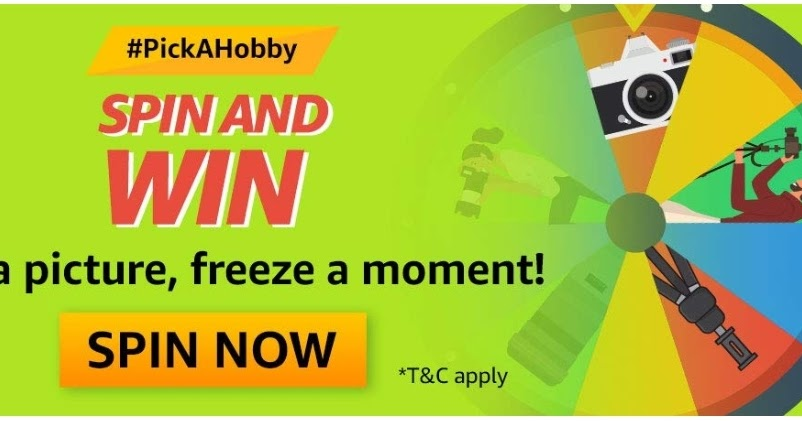 Amazon Pick a Hobby Spin and Win Quiz Answer - HuntGuru | Top Online Deals | Amazon quiz