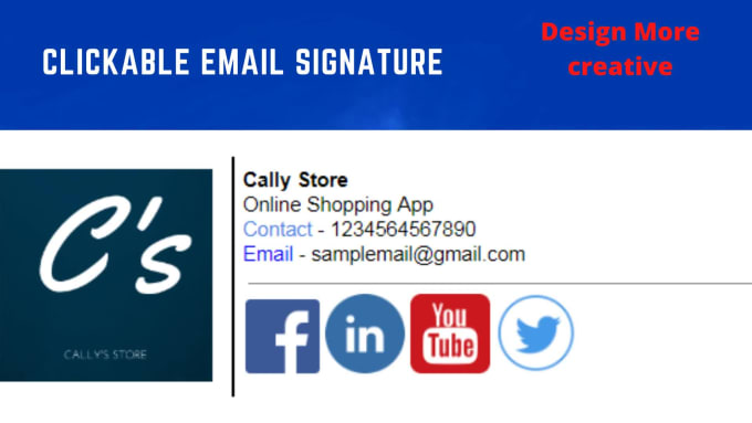 Create a clickable html email signature by Amit_3572