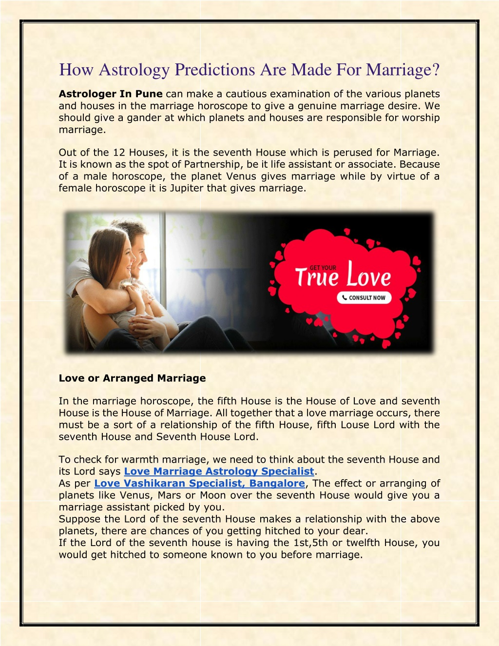 PPT - How Astrology Predictions Are Made For Marriage? PowerPoint Presentation - ID:9933796