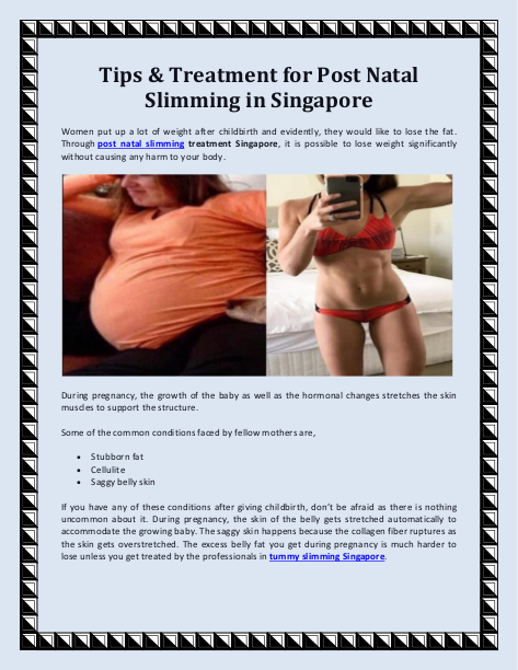 Tips  Treatment for Post Natal Slimming in Singapore | edocr