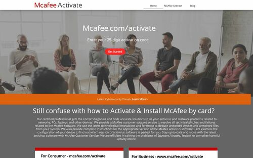 Mcafee.com/activate - Enter Product Key - www.mcafee.com/activate