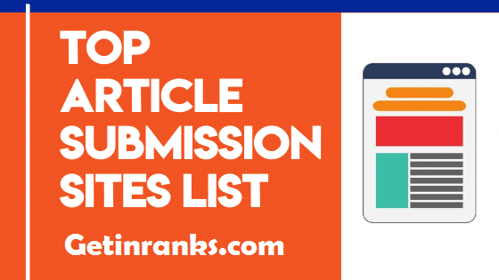 Top 150 Free Instant Approval Article Submission Sites List 2020