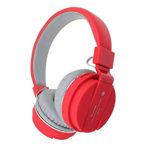 ERHETUS EH-12 Wireless Bluetooth Headphone With Mic With FM And SD Card Slot With Music And Calling Controls For All Mobile (Red)