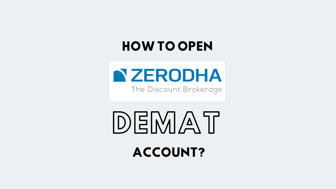 Zerodha Demat Account Opening - 2020 Charges, Login Process