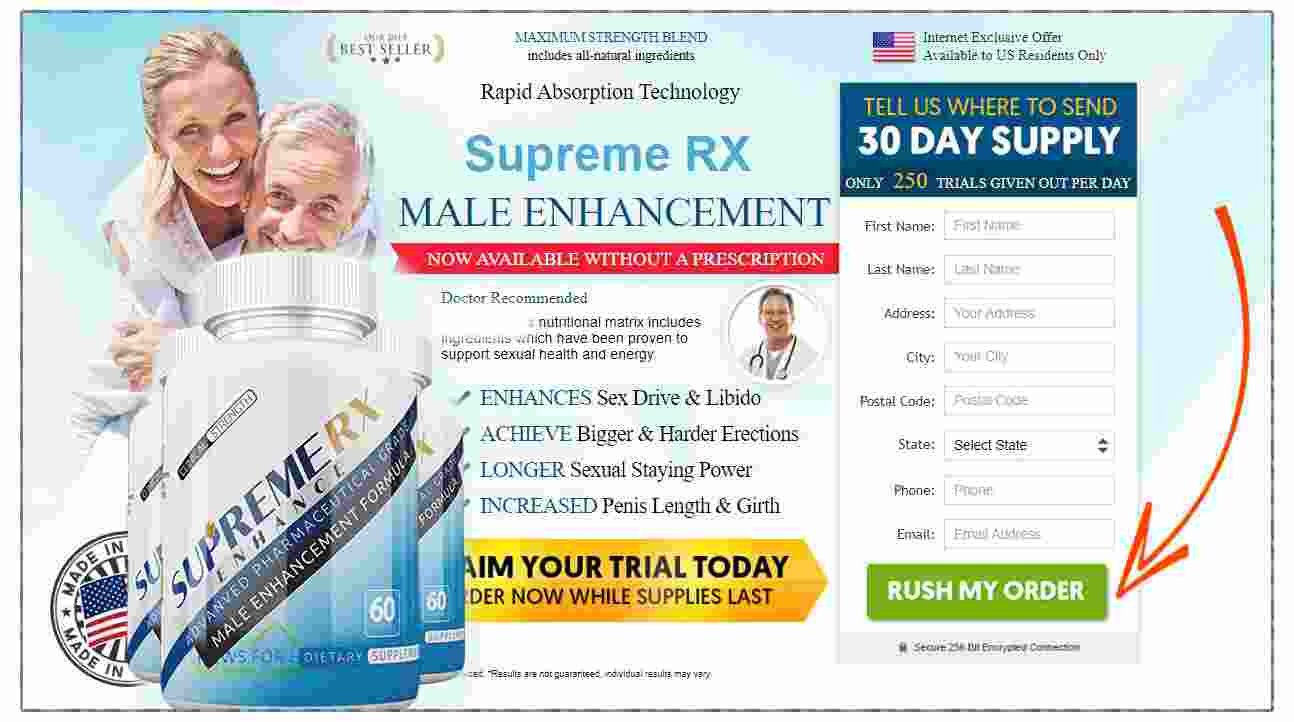 Supreme RX: Advanced Male Enhancement Pill For Sexual Performance -