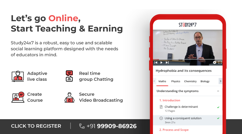 Online Teaching Platform | Conduct Live Classes | Create & Sell Courses - Study24x7