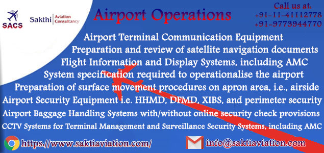 Airport Operations - Sakthi Aviation Consultancy Services in India