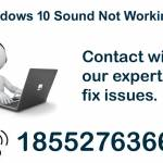 Windows 10 Sound Not Working ? Dial 1-855-276-3666 Profile Picture