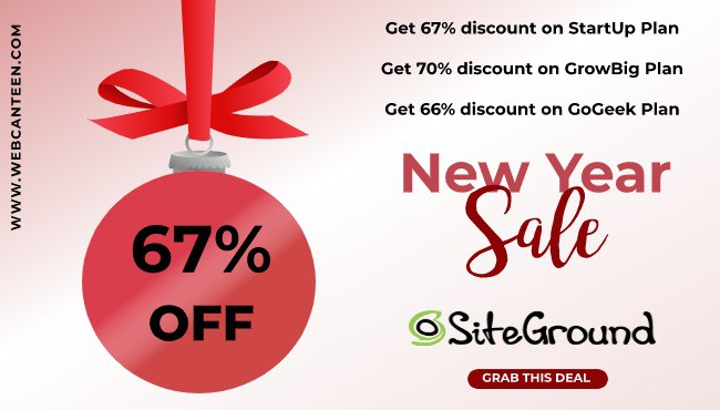 SiteGround Discount : The most Affordable WebHosting 67%off