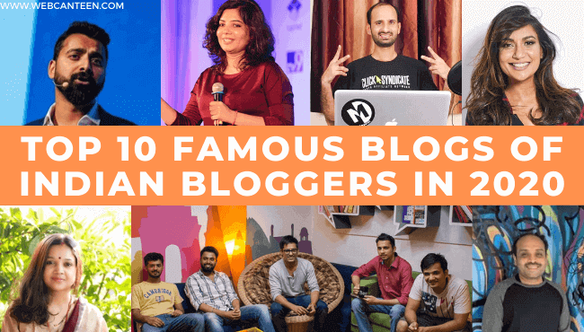 Top 10 famous blogs of Indian Bloggers to read in 2020