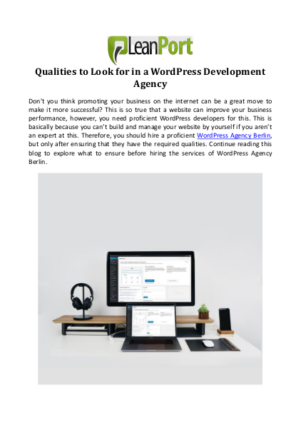 Qualities to Look for in a WordPress Development Agency