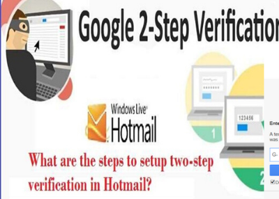 How to use two-step verification in Hotmail Account