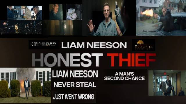 HONEST THIEF Liam Neeson Trailer release date story star cast and review