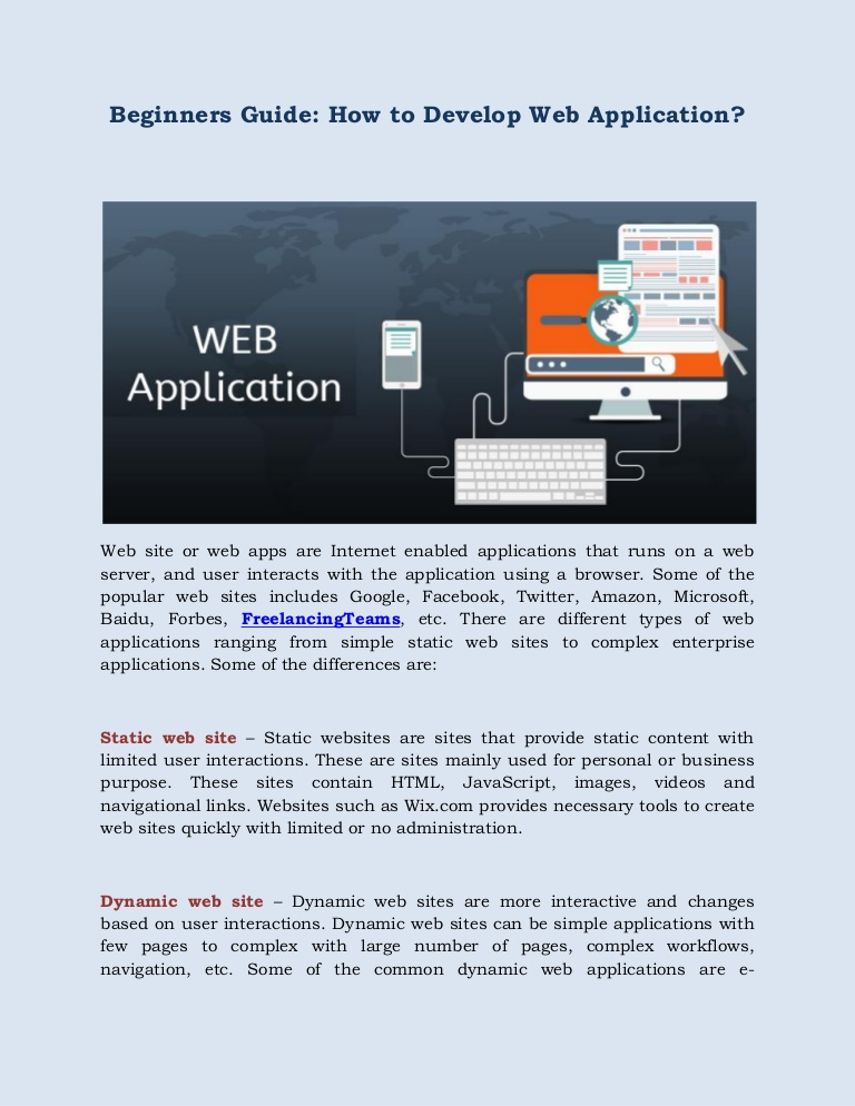 Beginners Guide: How to Develop Web Application?