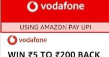Vodafone Best Recharge Offer Tips - Get Up To Rs.200 Cashback On Recharge Of Rs.199