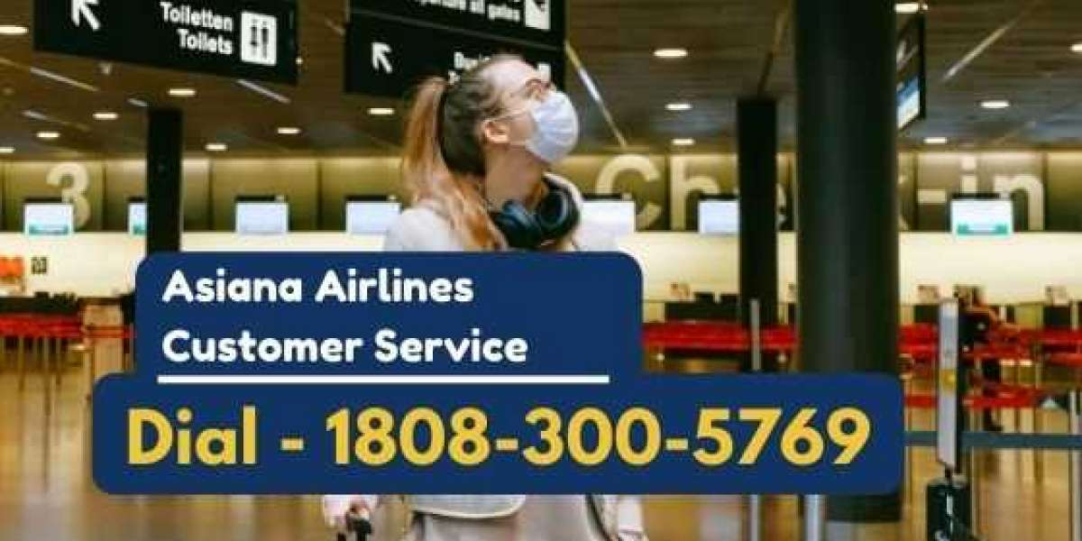 Instructions to connect with an Asiana Airlines agent at customer service